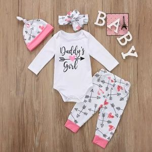 Daddy's Girl Bodysuit and Pants Set w/ Accessories